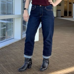 Banana republic mid rise straight dark denim